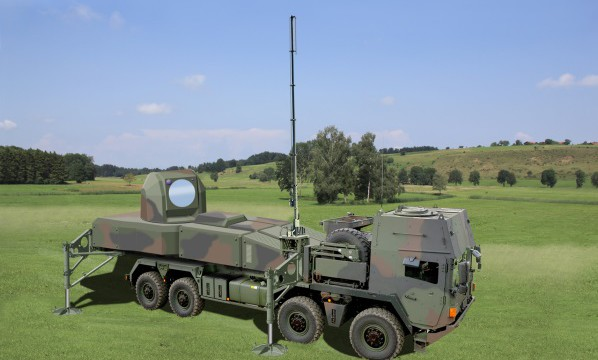 Autonomous, C-RAM capable and transportable laser effector with over 100 kW of power (C) MBDA Deutschland