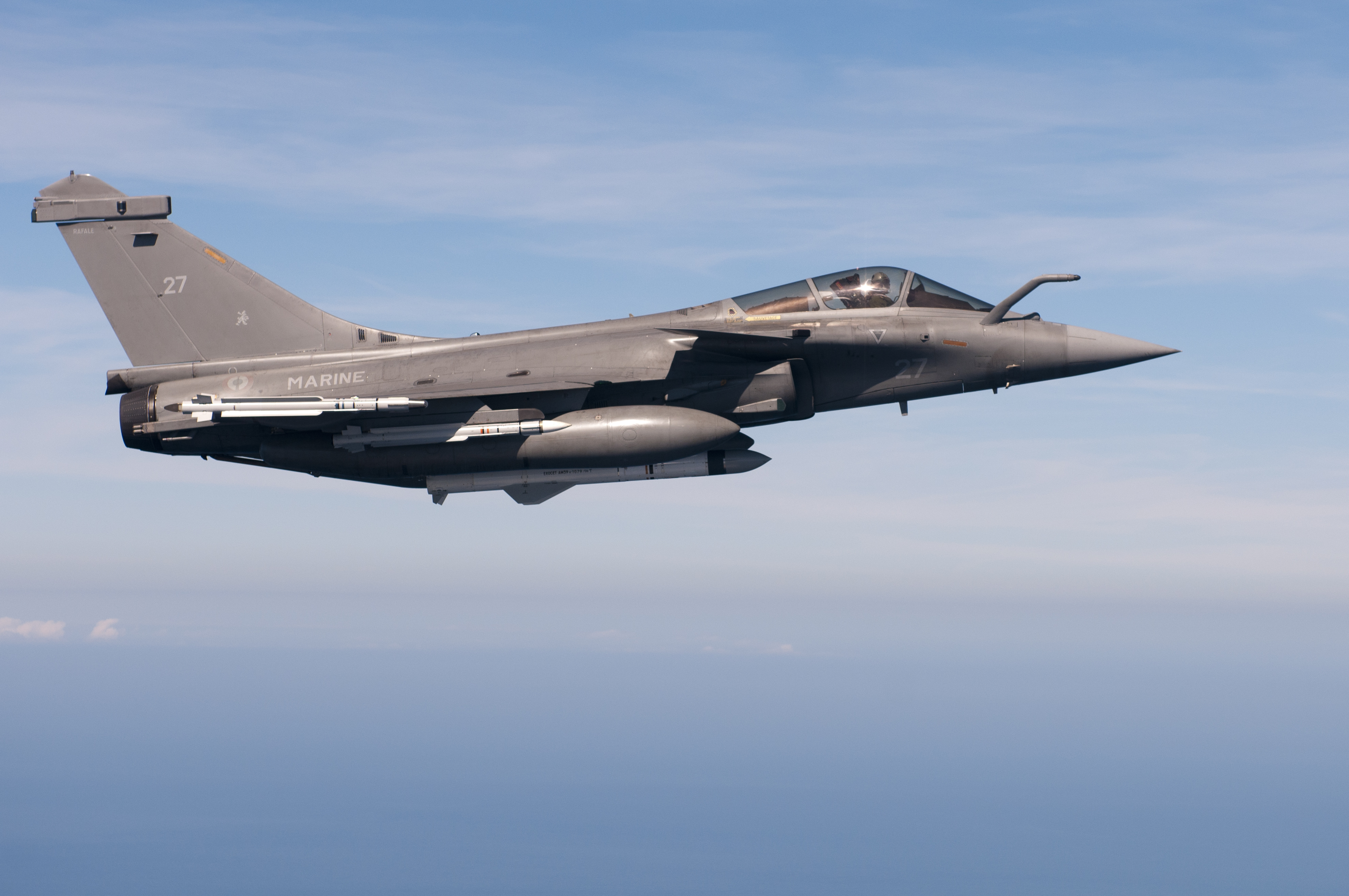 MBDA's EXOCET AM39 carried by Rafale