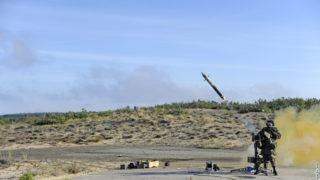 MISTRAL MANPADS firing