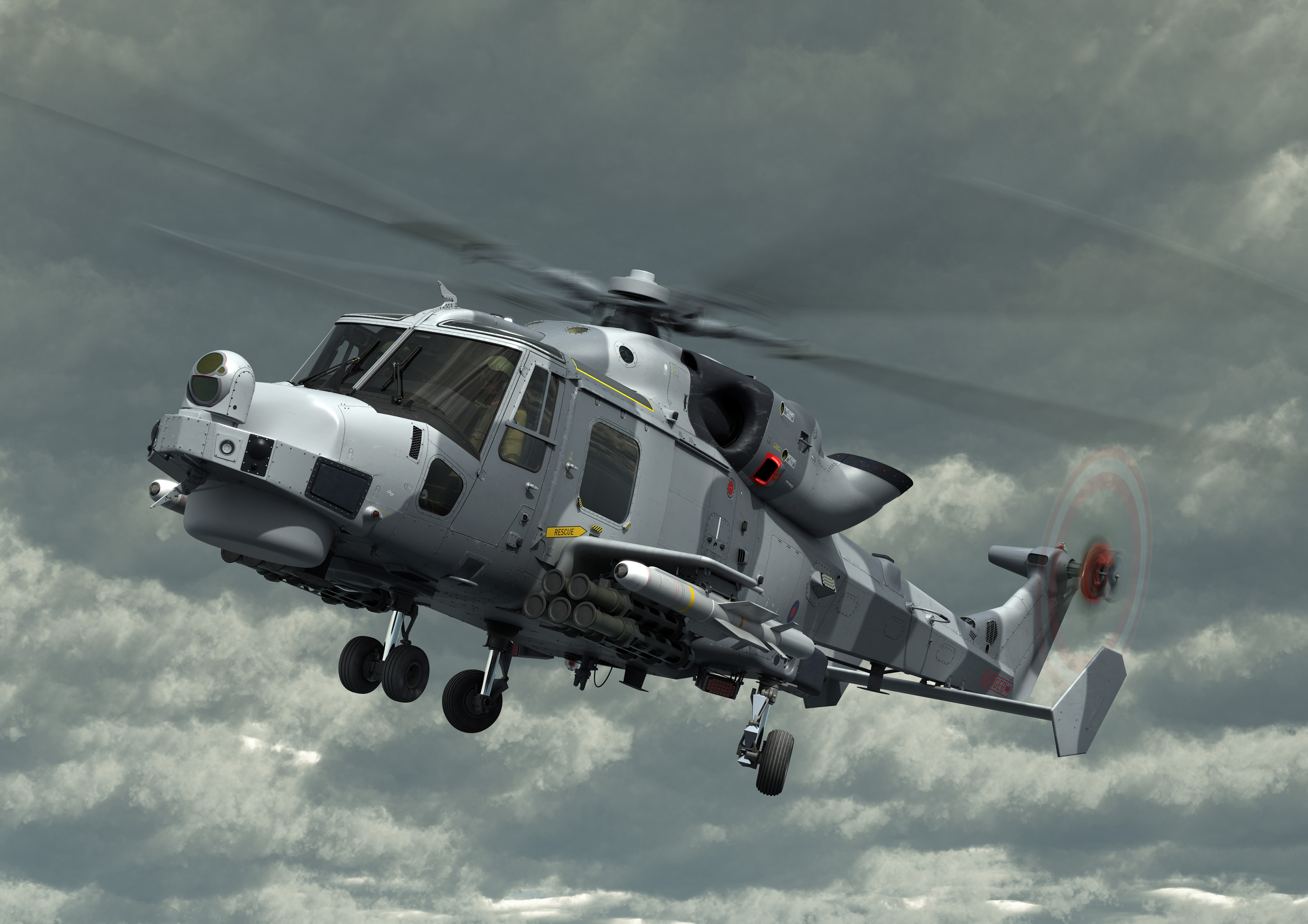 SEA VENOM/ANL in flight with AW159