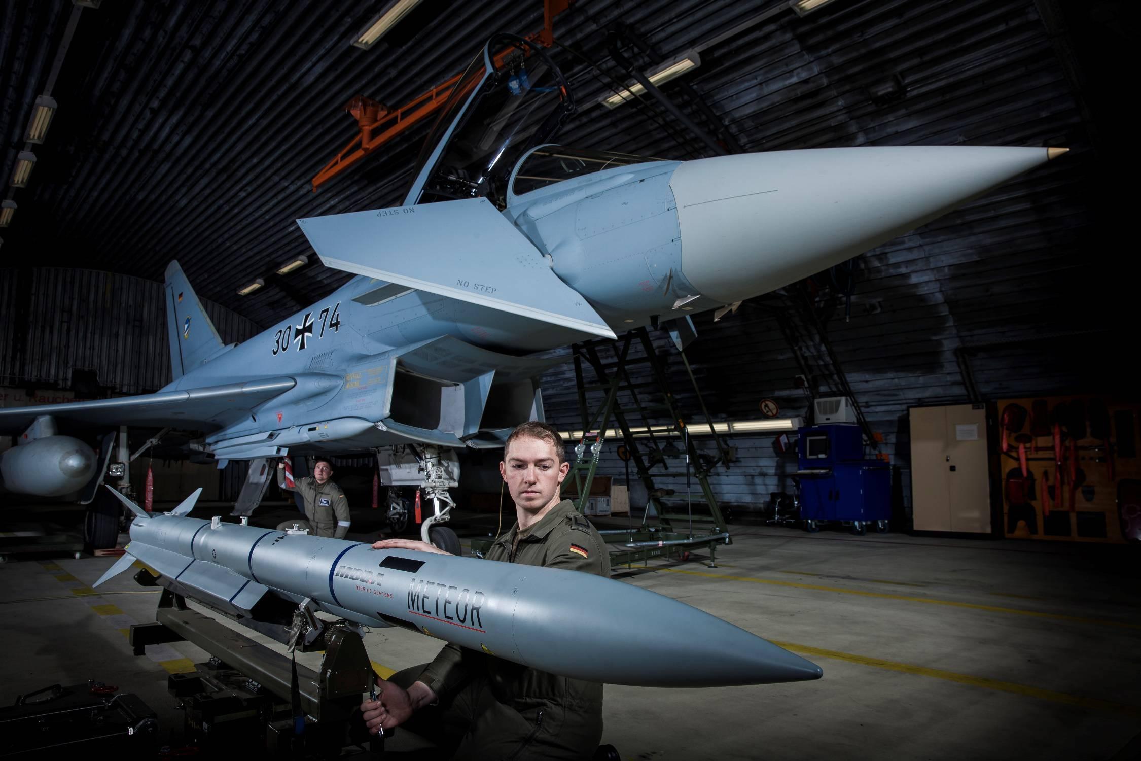 Meteor on Eurofighter Typhoon. German Air Force