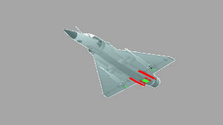 Old design of SPIRALE integrated on Mirage 2000 by MBDA