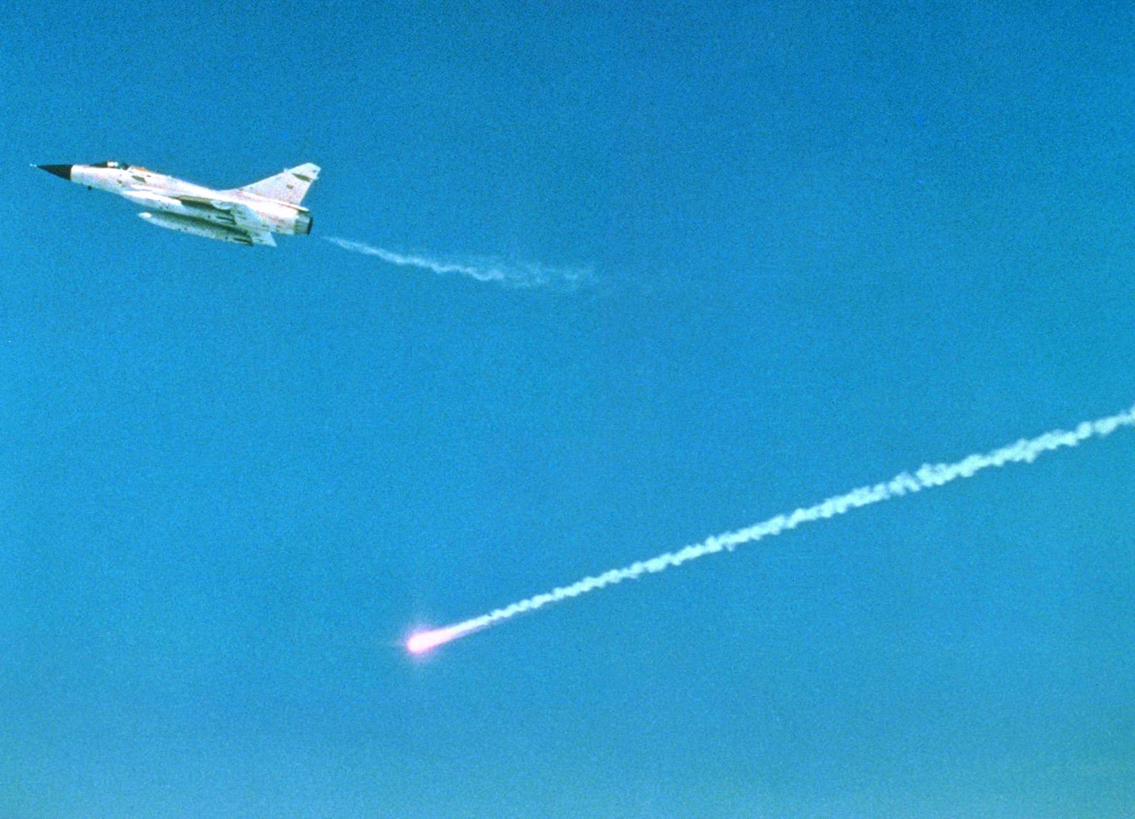 SPIRALE firing from a Mirage 2000