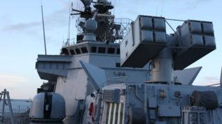 Aspide Albatros firing from Italian frigate