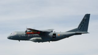 Zoom on MARTE MK2 A dropped from Spanish Airbus C295