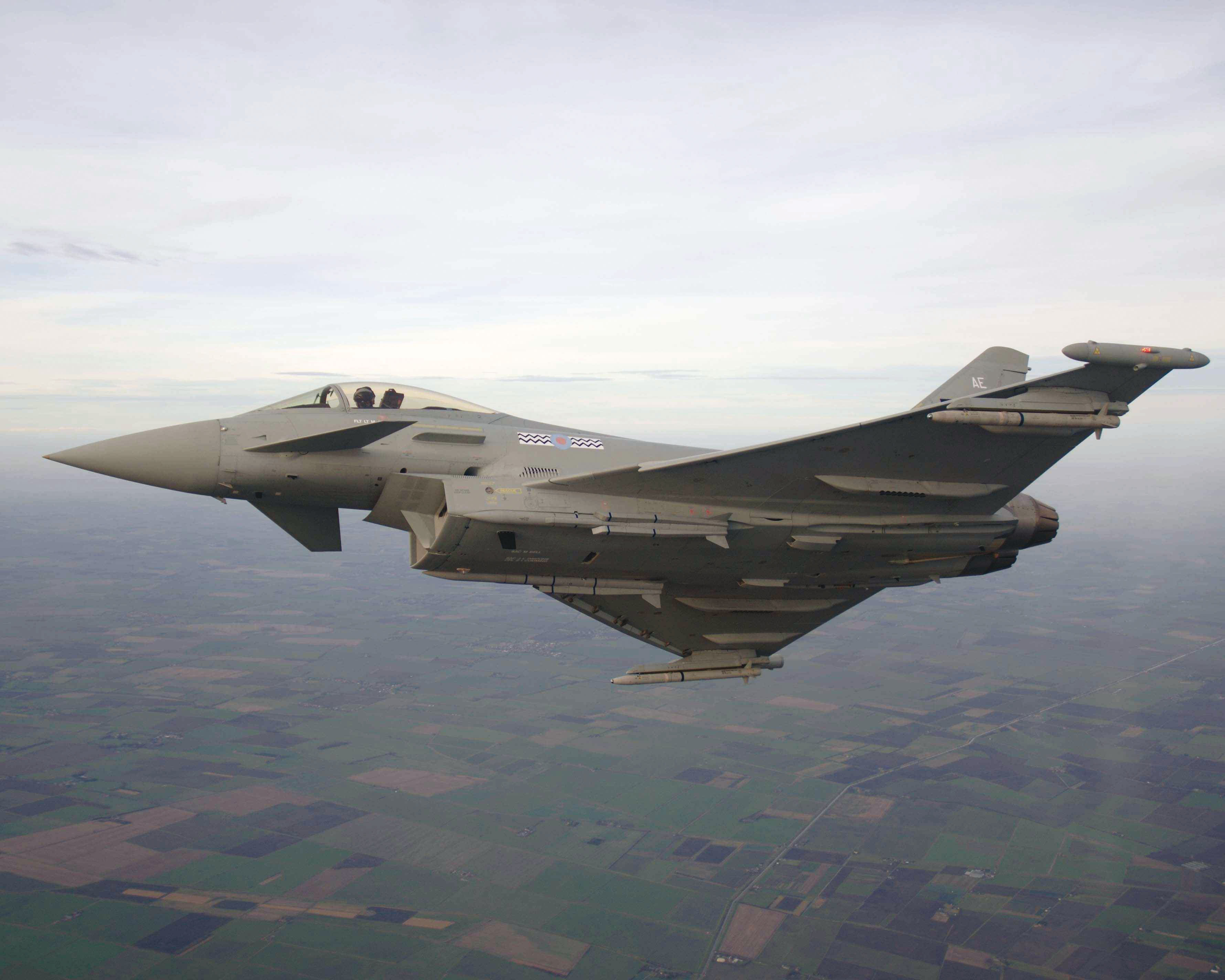 Meteor carried by Typhoon Eurofighter