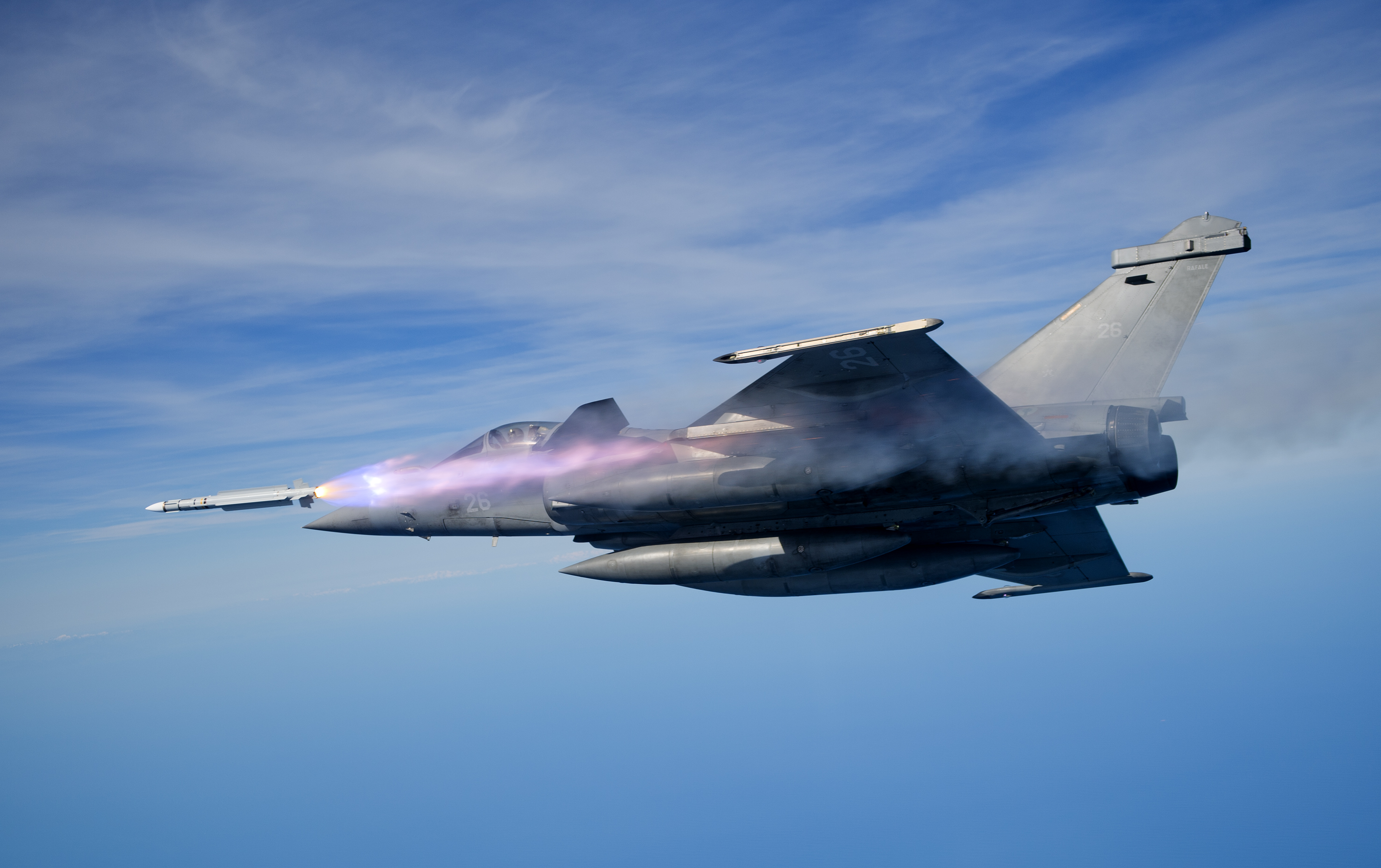 MICA fired from Rafale MBDA