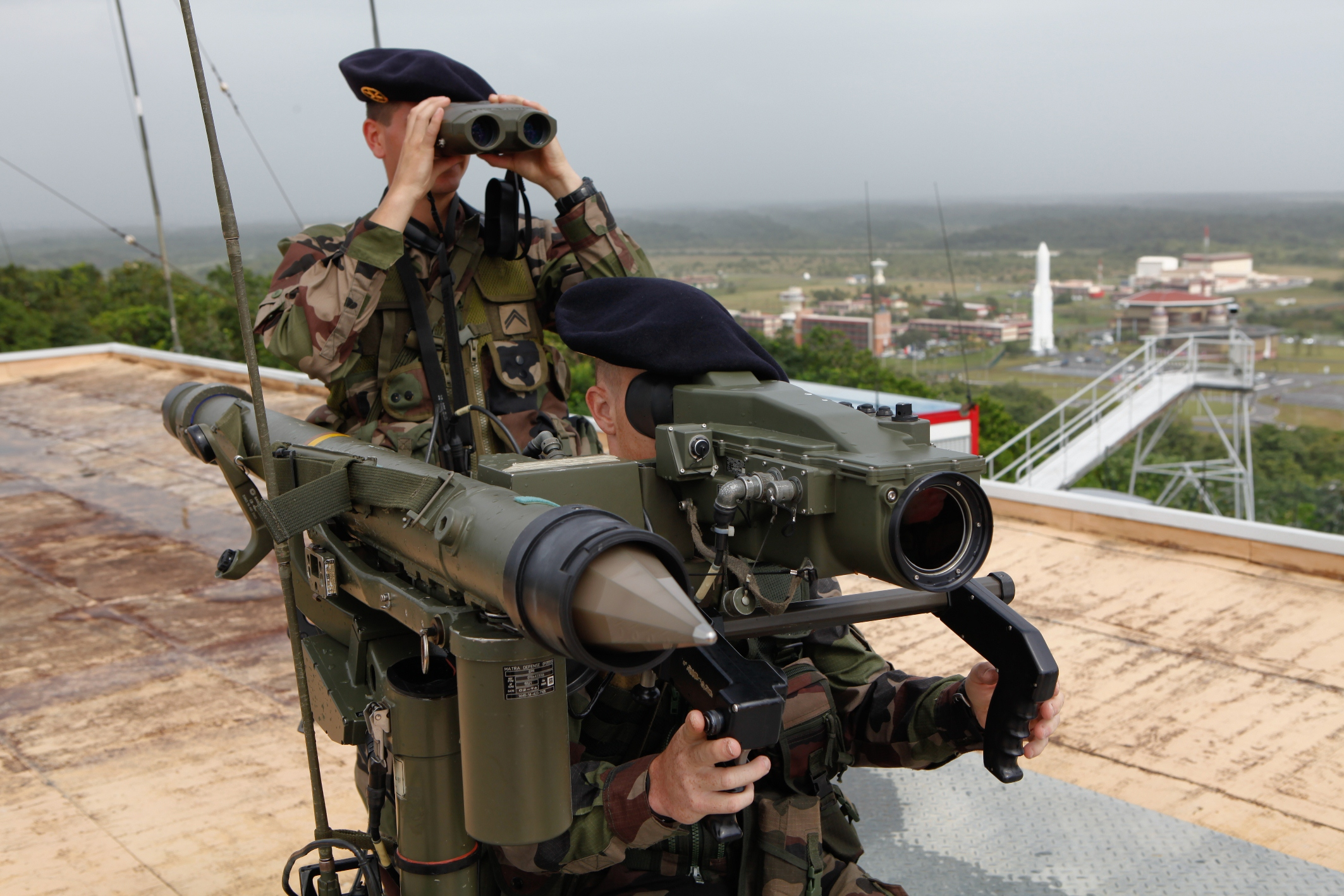 French Forces using MISTRAL MANPADS in Guyana