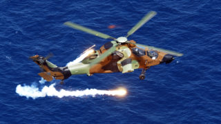SAPHIR-M firing from Tiger helicopter