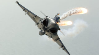 Rafale aircraft equipped with SPECTRA (MBDA's missile)