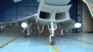 Youtube capture of MARTE ER, a missile designed by MBDA and integrated on Eurofighter