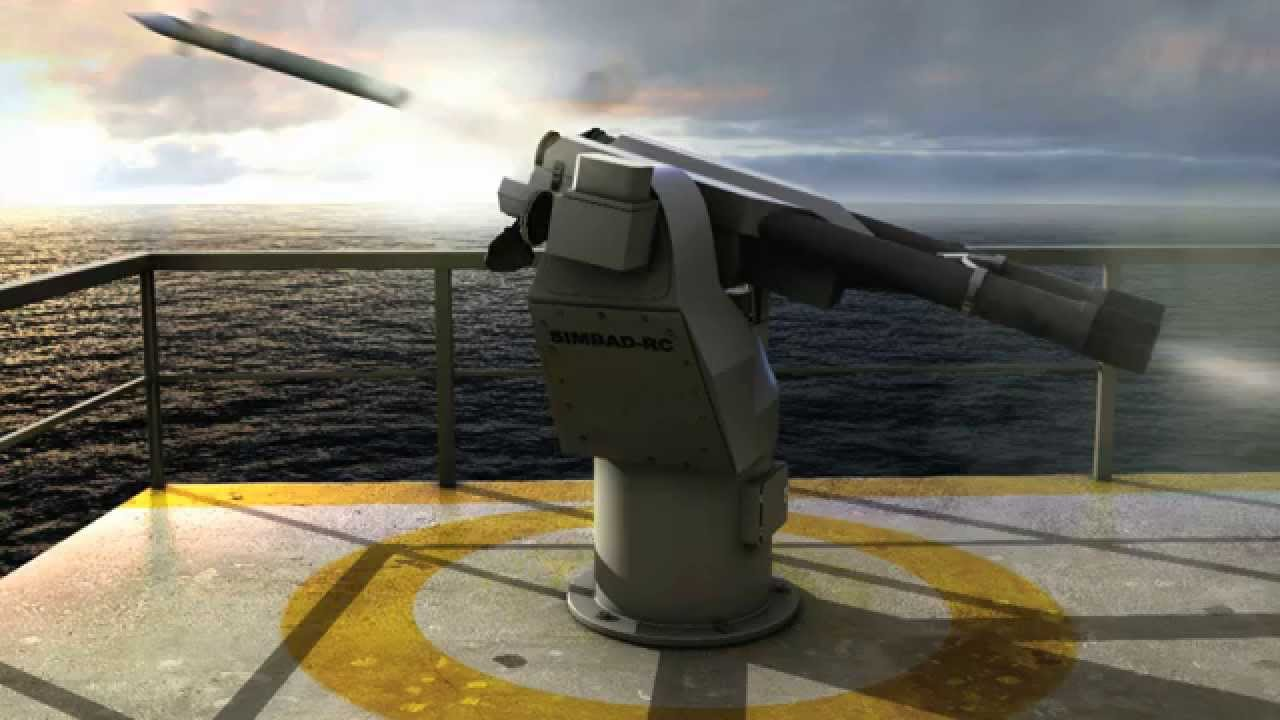 SIMBAD-RC is a short-range, anti-air self defence system deploying two fire-and-forget MISTRAL missiles