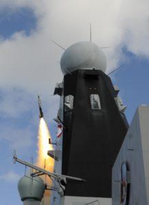 Sea Viper firing - HMS DUNCAN - Oct 2014 - copyright MBDA