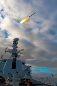 Sea Ceptor naval air defence system firing